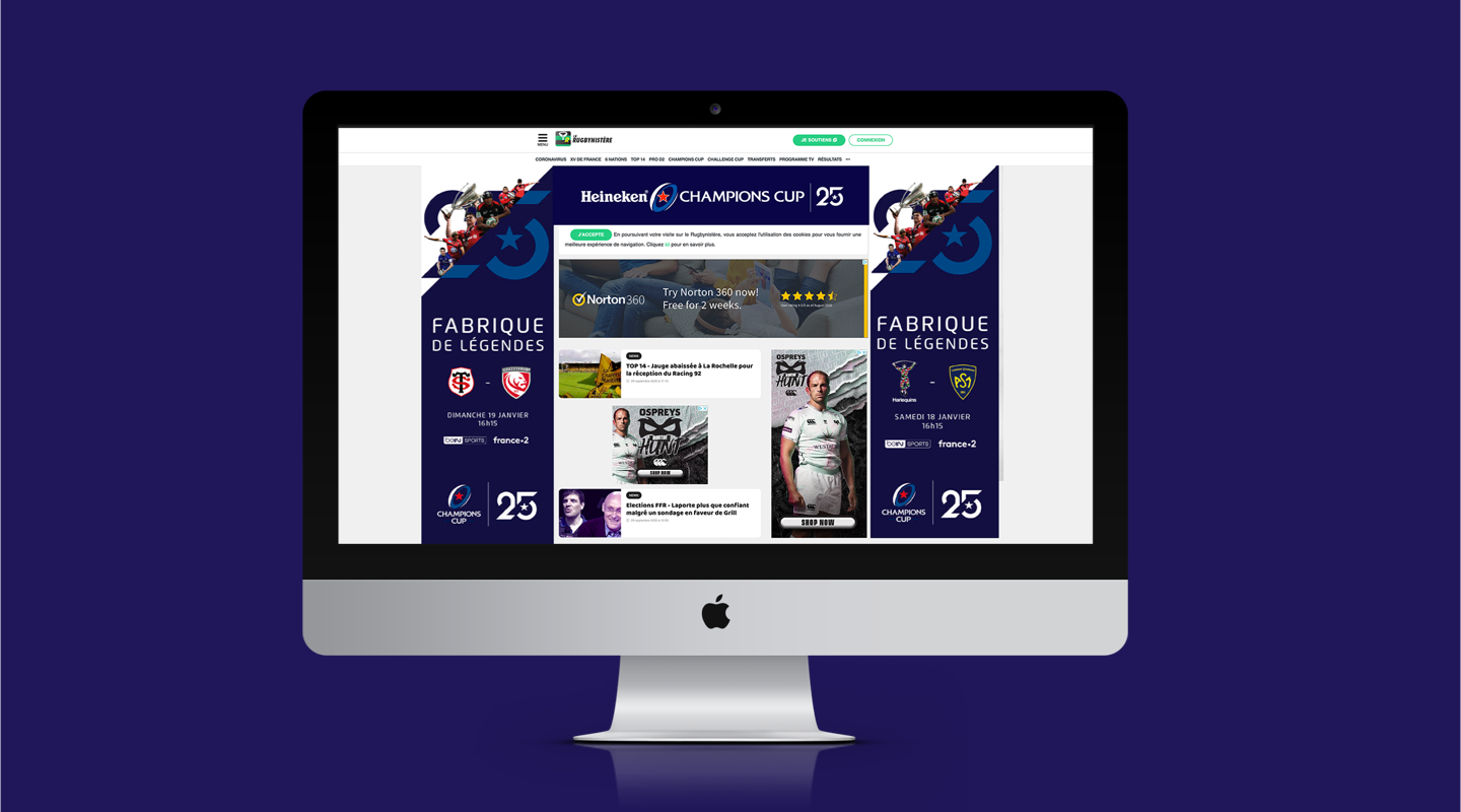 Champions Cup website graphics
