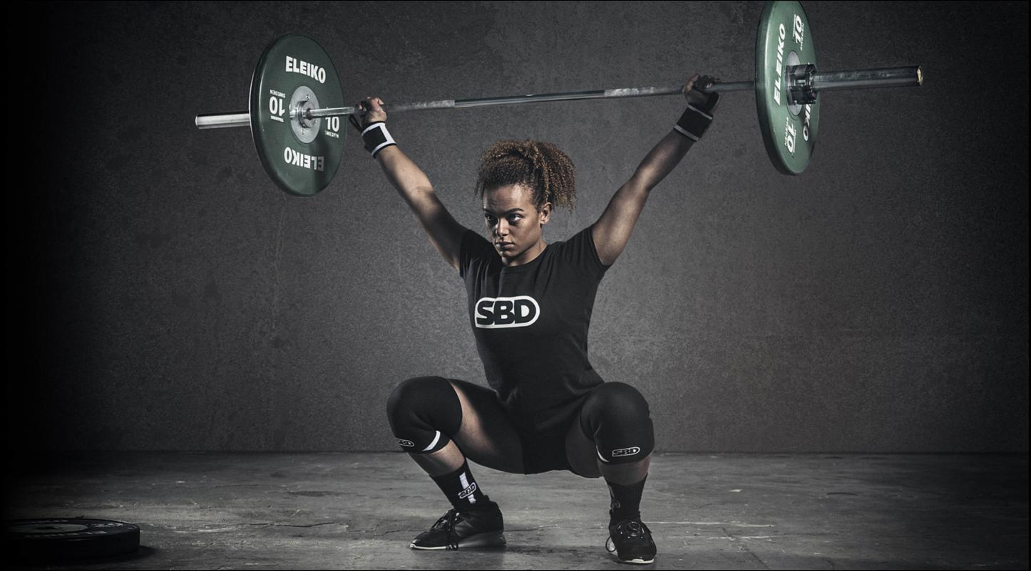 SBD Weightlifter female deadlifting metal bar
