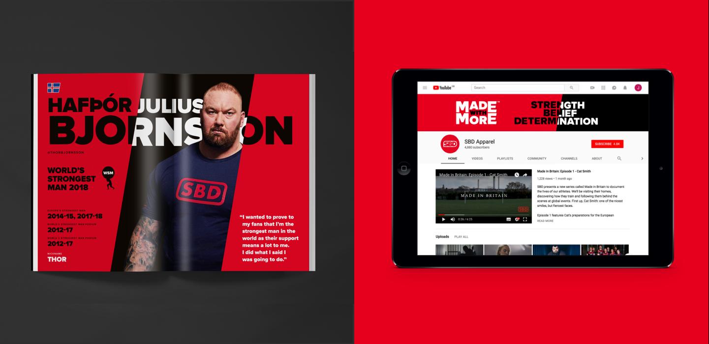 SBD magazine and ipad