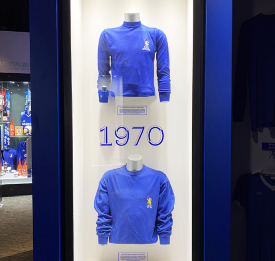 Blue Chelsea shirts from 1970