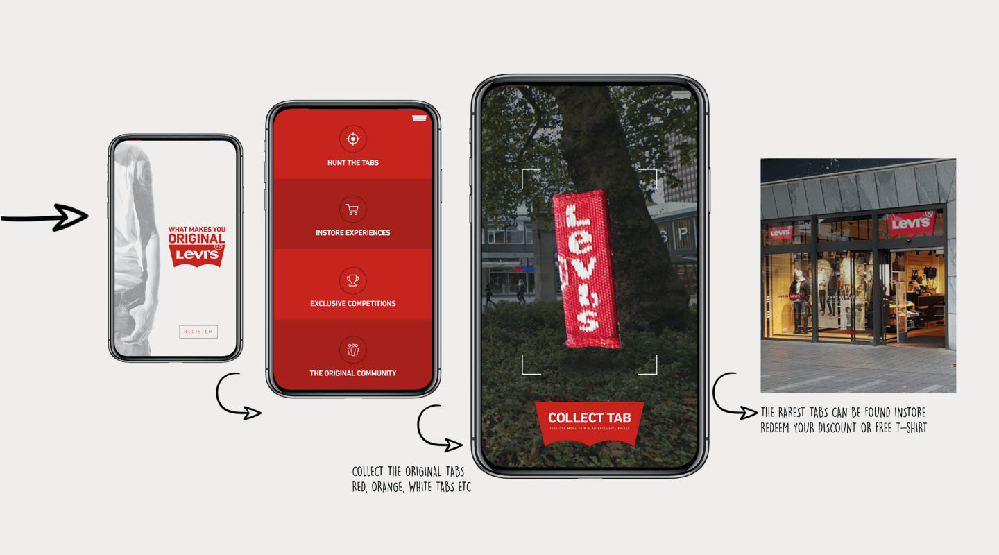 Levi's mobile AR experience