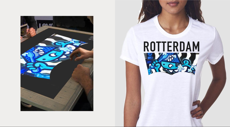 Levi's screen-printed Rotterdam T-shirt