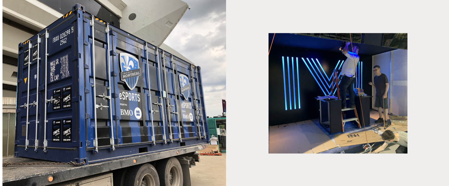 MTL gaming container on a truck