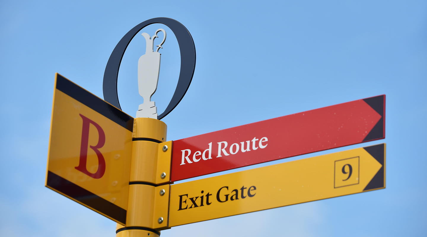 The Open wayfinding outdoor signage photography