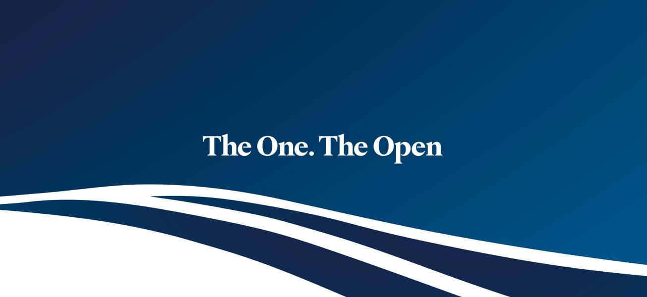 The Open gradient graphic