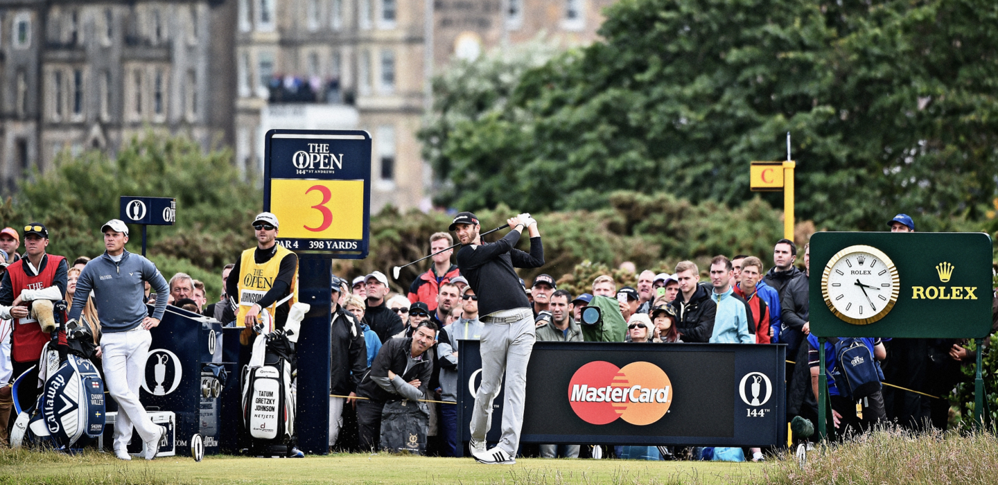 The Open golfer teeing off