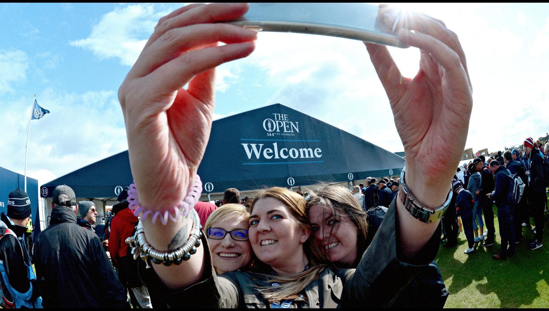 The Open fans taking a selfie