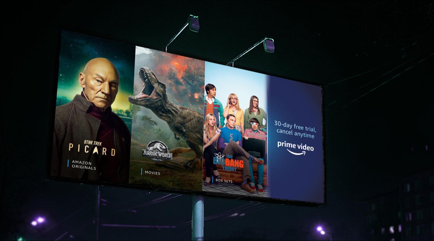 Amazon Prime Video Movies billboard advert
