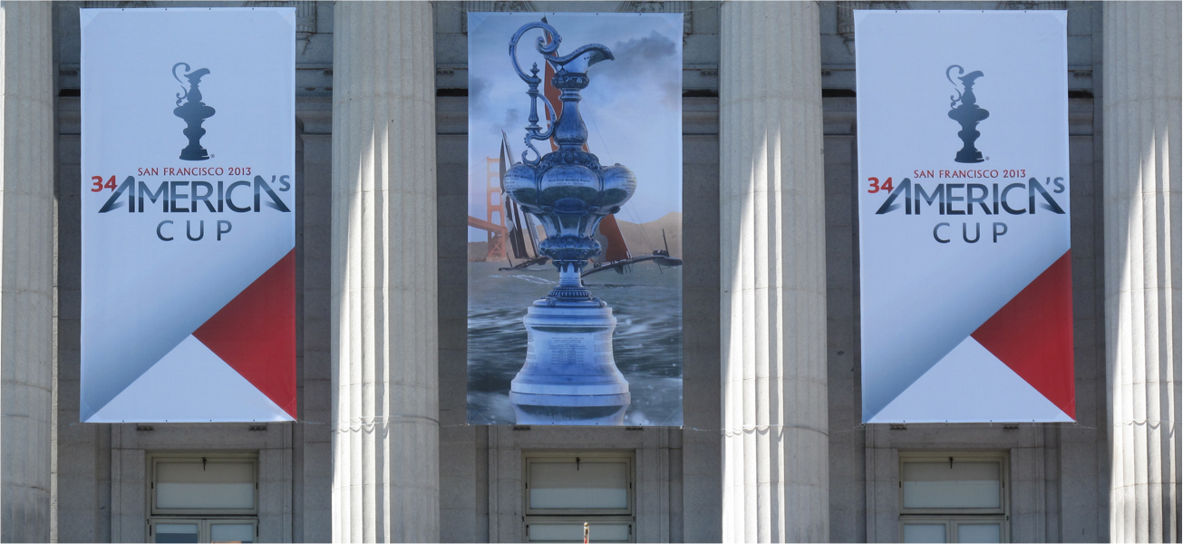 America's Cup Banners and Pillars