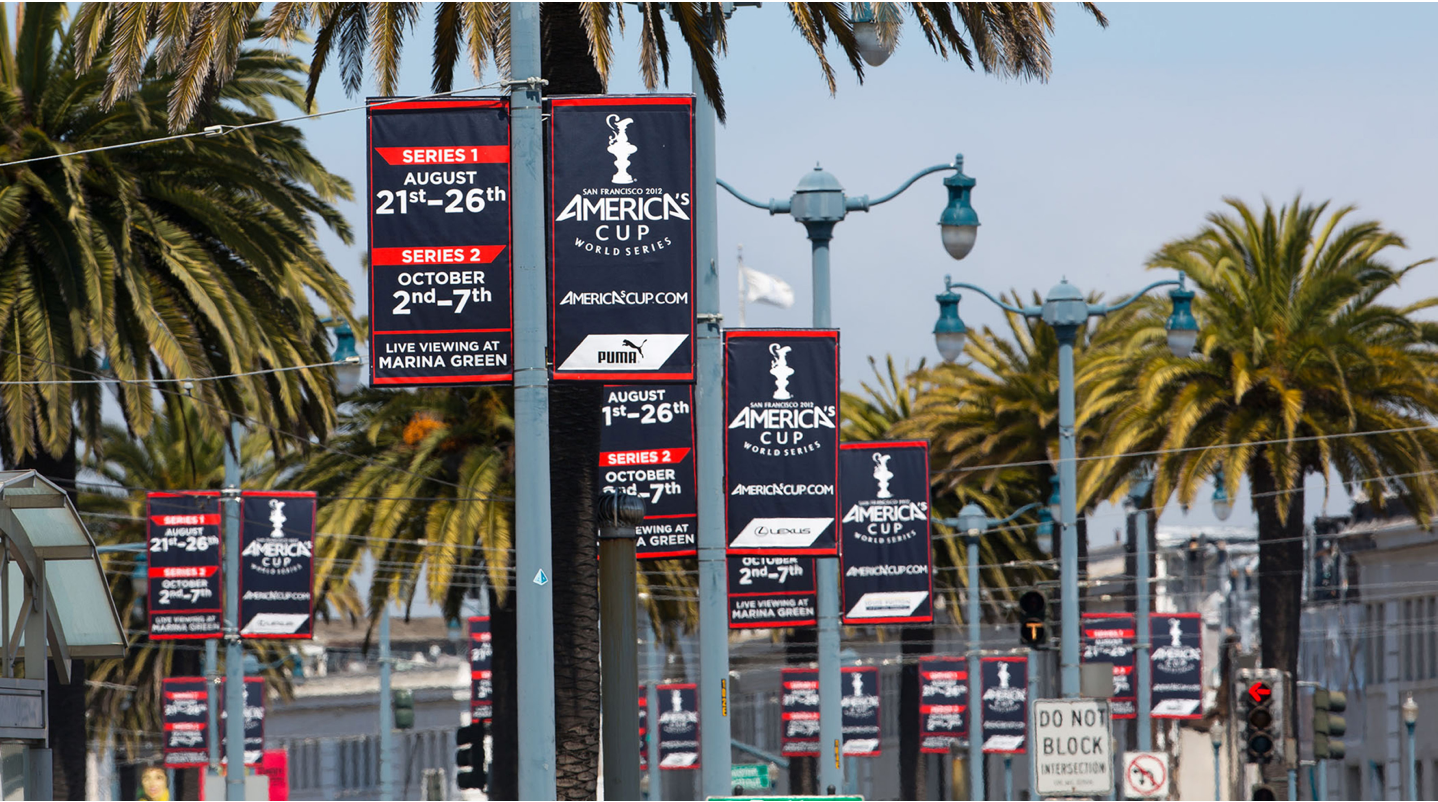 America's Cup Street Banners