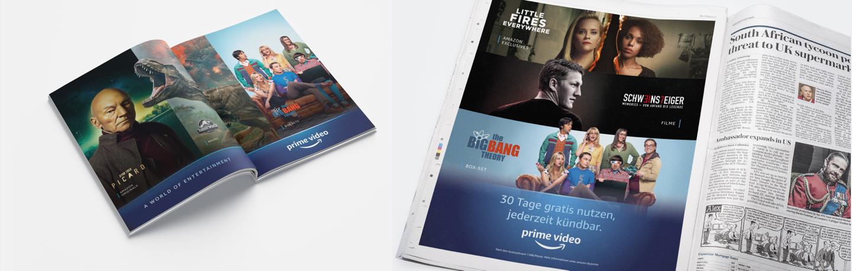 Amazon Prime Video magazine ads