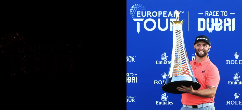 European Tour logo and Trophy