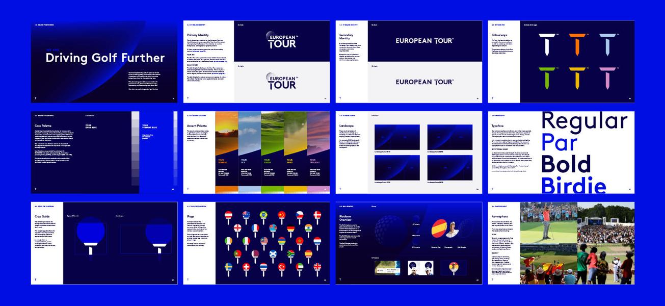 European Tour Website Layouts