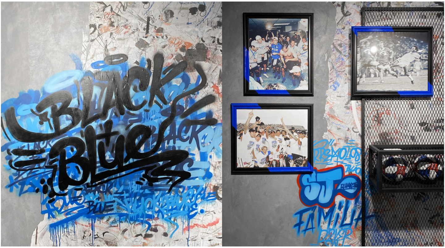 San Jose Earthquakes Blue Graffiti