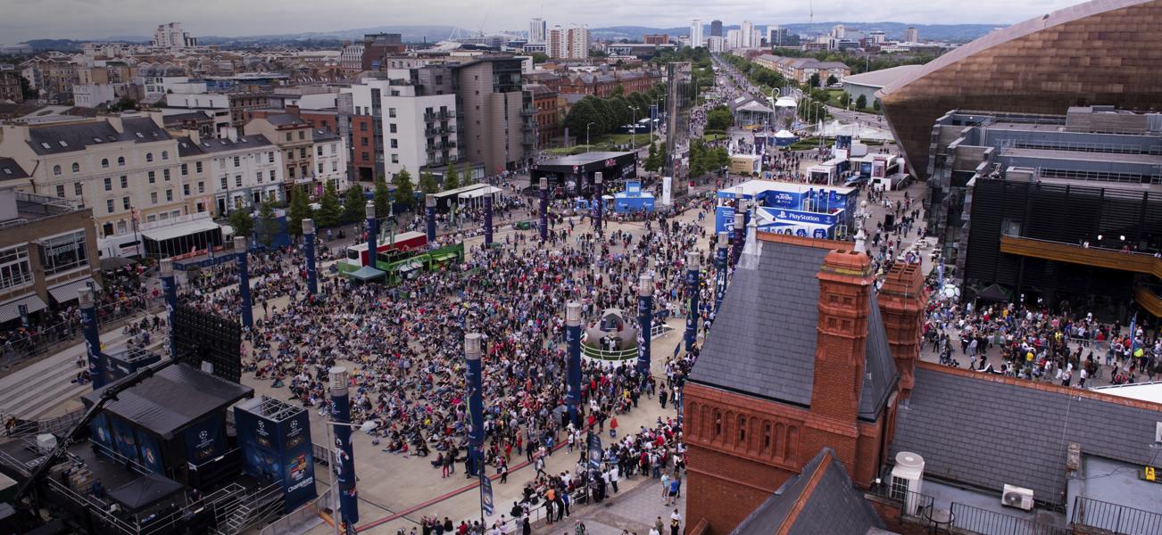UCLF Cardiff Crowd